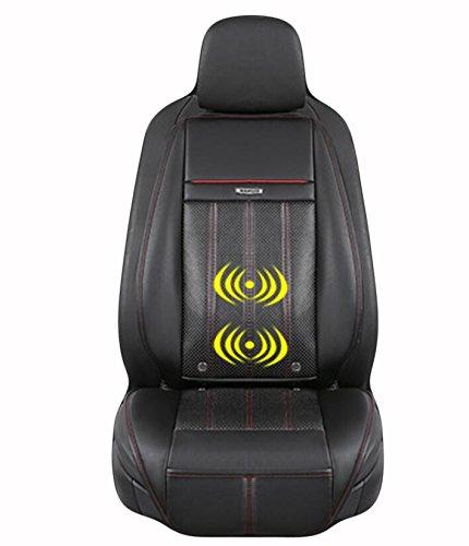 AMYMGLL Massagematte Heizung Vibrationsmassage Multifunktionsmatratze Auto-Massagepolster hochwertiges Leder 3 Farben optional , 2