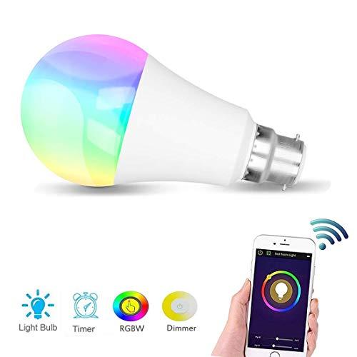 KAINSY Smart LED Alexa Lampe 7W, Wifi E27 Birne RGB Glühbirne Kompatibel Mit Amazon Alexa und Google Home, 60W äquivalent, Dimmbar, bis zu 16 Millionen Farben, Steuerbar Via App