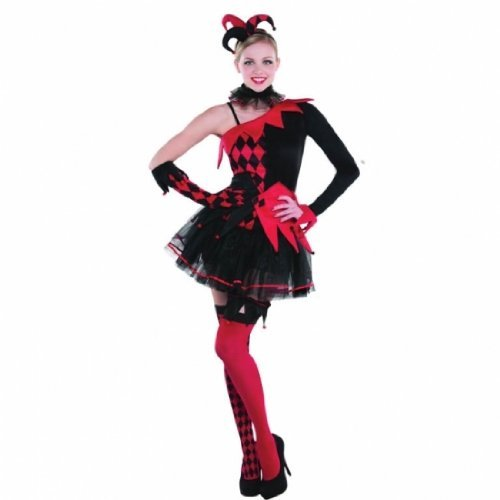 New Womens Halloween Jesterina Clown Ladies Fancy Dress Party Costume by (Jesterina Kostüm Halloween)