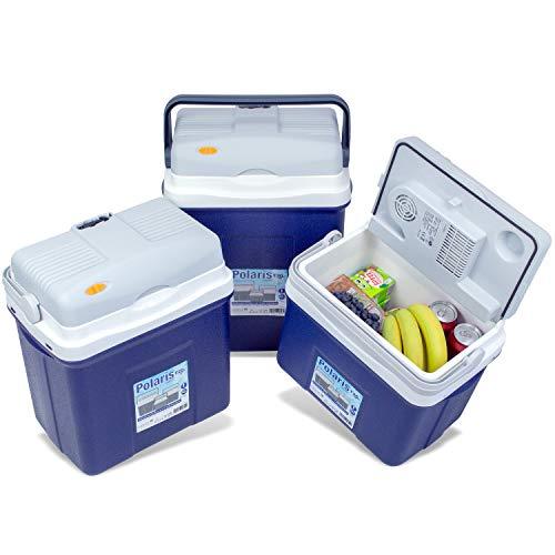 noorsk Elektrische Kühlbox mit 12 Volt Anschluss Verschiedene Größen Thermobox für Auto und Camping - Grau - 18 L