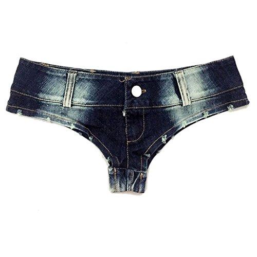 Kurze Jeans Nightclub Women Low-Rise Denim-Shorts Hot Pants Beach Shorts (größe : L) (Kostüme Für Weniger Code)