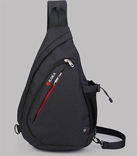 Nuovo grande capacità petto Pack versione coreana maschio di aumento di pacchetti di gocce all'aperto il borsa borsa a tracolla in tessuto impermeabile , blue increase black increase