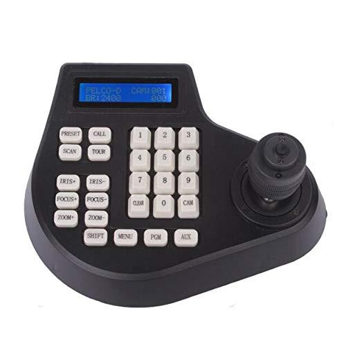 TOOGOO Mini 4D Coaxial CCTV Tastatur Controller LCD 1,5 Km Joystick Rs485 Ptz Speed Dome Kamera Halterung Für Pelco Ad Panasonic Protokoll (Eu Stecker) Speed-dome-controller