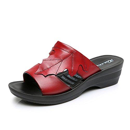 ZPPZZP Ms sandali pantofole estate relax a fondo piatto con 36EU