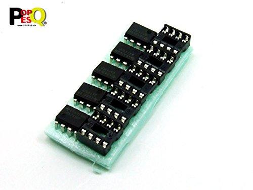 POPESQ® - 5 Stk. /Pcs x UA 741 mit/with DIP8 Sockel/Socket Operationsverstärker Op Amp #A563