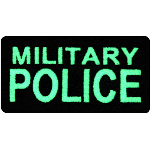 Táctico Militar Policía Broche Bordado de Gancho y Resplandor en el parche oscuro de Gancho y bucle de cierre