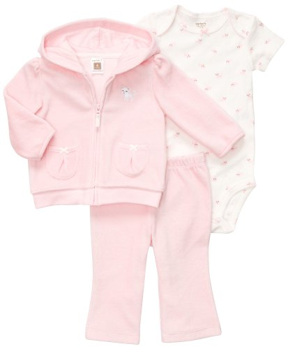 CARTER'S 3 teilig 56/62 Jacke Body Hose Baby Mädchen Outfit Kleidung girl 3 Teile US SIZE 3 month Katze rosa