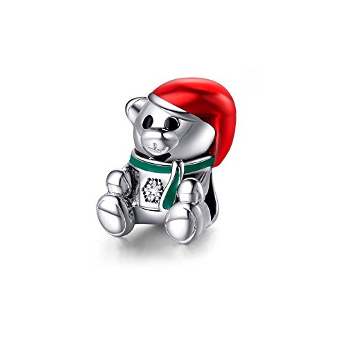 Charms Bead Orso di Natale - Blue Pearls - MIS 4435 V