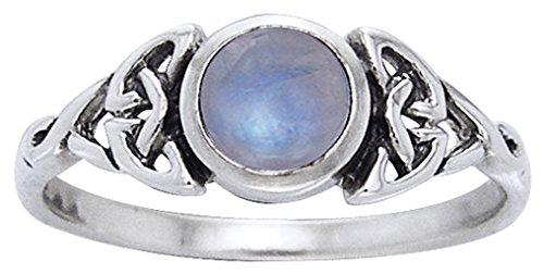 Alterras - Ring: Filigran mit Mondstein aus 925-Silber (Ring-Größe: Ringr. 54 (ø17,2mm; US:#7)) (Filigran-ring Größe 7)