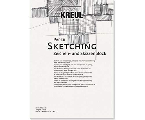 KREUL Zeichenpapier 120g / M2 - Din A4, Papier basteln, Karte Herstellung, Hintergrund, Scrapbooking-Hintergrund-Papier, Art, Ck 69002 -