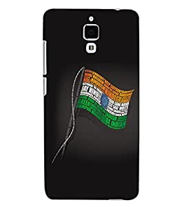 ColourCraft Indian Flag Back Case Cover for XIAOMI MI 4