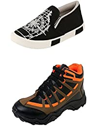 Jabra Perfect Combo Of 2 Shoes- Sneakers And Loafers In Various Sizes - B06XVYW7ND