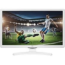 """LG 24MT49VW-WZ - TV/Monitor de 24"""" (LED HD, 1366x 768 pixels, 5 ms, brillo 250, estabilizador de negros, DAS) blanco"""