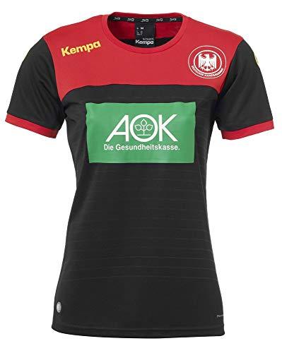 Kempa Handball Frauen DHB Trikot Away 2018 2019 Deutscher Handballbund Auswärtsshirt Damen schwarz rot Gr XS