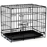 Dibea DC00490, Jaula de Transporte (Tamaño S) para Perros y Animales Pequeños, Estable Caja de Metal, Plegable, 1 Puerta