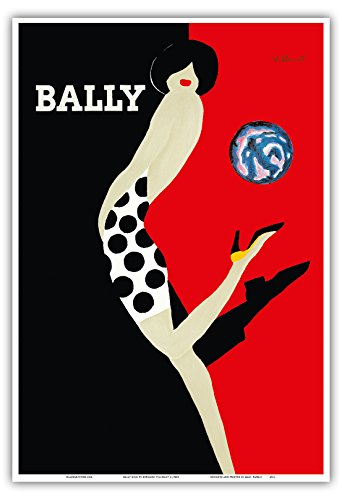 bally-kick-bally-shoes-vintage-advertising-poster-by-bernard-villemotc1980s-master-art-print-13in-x-