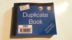 Livre Reçu Avec Double - 100 Pages - 2 Papier Carbone