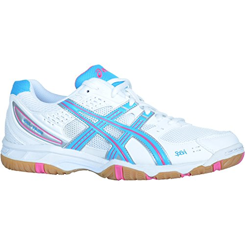 Damen Volleyball- / Badminton- / Hallensportschuhe Gel Task W Woman WHITE/BLUE/PINK