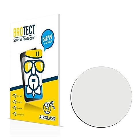 BROTECT AirGlass Protection Verre Flexible pour Montres (circulaire, Diamètre: 40mm) Film Vitre Protection Ecran Transparence - Extra Résistant, Ultra-Léger, Clair