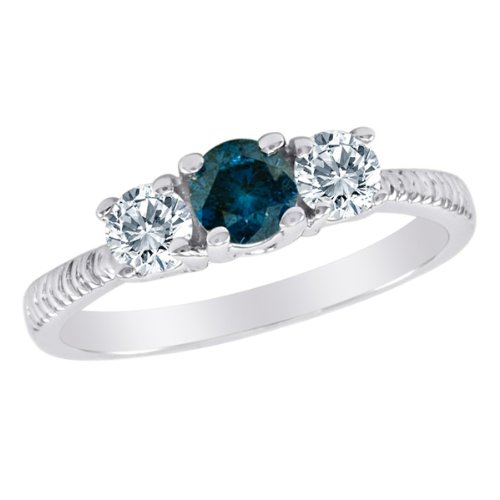 10k-white-gold-round-3-stone-blue-diamond-and-white-diamond-ring-with-etched-shank-1-cttw-size-8