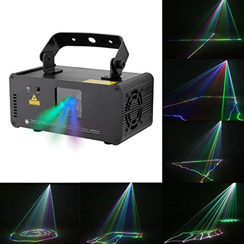 ZhanmaK Smart RGRB Dance Party Disco Licht, Remote Multi Color 3D Effekt Strahler, Sound Aktiviert KTV Bar Pub Club ZHANMA (Color : Blue Beam Only) (Blue Laser Dj Licht)
