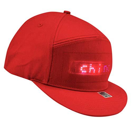 l Cap mit LED DIY Display-Bildschirm Kappe Bluetooth Night Caps Outdoor Hip Hop Heiratsantrag Hut Sommer Mütze Sport Wandern Fahrrad Trucker Party Club Hat Angelmütze Sonnenhut ()