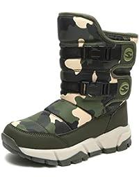 Stivali da Bambina Inverno Ragazzo Stivali da Neve Foderato di Pelliccia  Stivaletti Ragazza Ankle Boots Outdoor 3f6b6033fc9