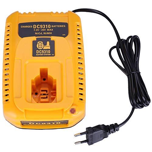 SODIAL Prise EuropéEnne pour Chargeur De Batterie DC9310 7.2V-18V Batterie Nicad & Nimh DW9057 DC9071 DC9091 DC9096 Chargeur De Batterie