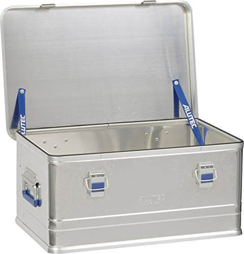 Alutec Transportkiste Comfort 48 - Aluminium Box 48 Liter mit Deckel verschließbar - Aluminium 48