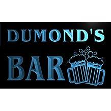 w011601-b DUMOND'S Nom Accueil Bar Pub Beer Mugs Cheers Neon Sign Biere Enseigne Lumineuse