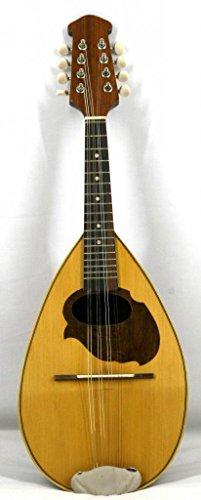 Musikalia Mandolino Napoletano, con doghe in legno di padouk, intarsiato e perfilato, di liuteria