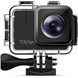 APEMAN A100 Caméra Sport 4K/50fps, Ultra HD 20MP WiFi Caméra d'action Étanche 40M, IPS 2.0 Pouces