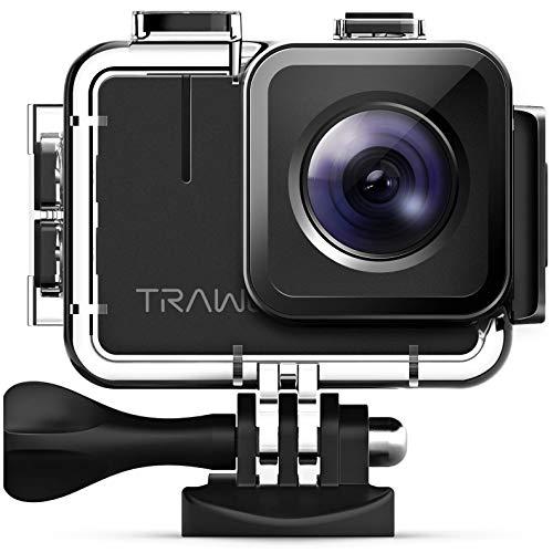 APEMAN 【Nuova Versione-50FPS Trawo Action Cam Ultra HD 4K WiFi 20MP Avanzato Sensore Videocamera EIS Stabilizzata 40M Impermeabile 2'' IPS Screen Fotocamera Subacquea con 2 1350mAh Batt