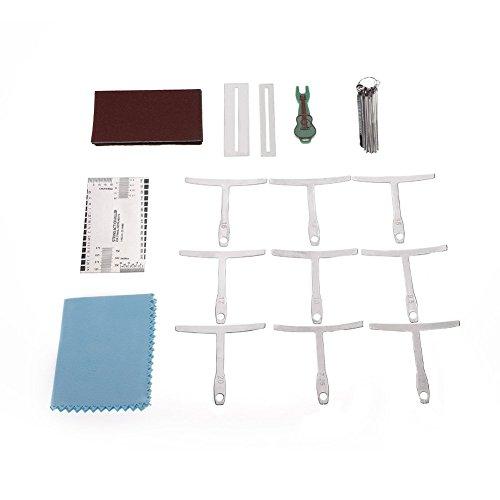Dilwe Chitarra fretboard righello 7in 1file grinding string altezza righello guarnizioni pin estrattore Sandpaper kit di riparazione set