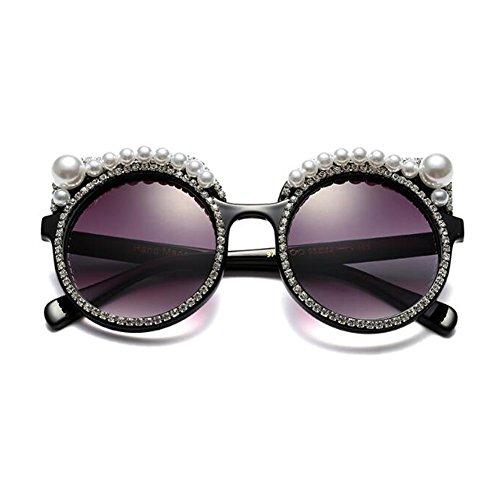 Zhuhaixmy Damen Groß Katzenauge Runden Sonnenbrille Super Licht Chic Retro Vollrand Rahmen Stylen Brillen