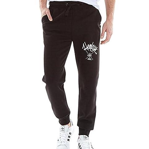 Mens Henleys Joggers Cuffed Sweats Track Pants (L,