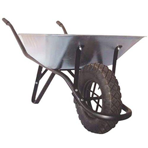Brouette caisse galvanisee 1 roue contenance 90 L