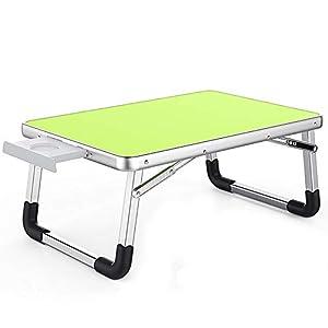 Xueyanwei Faltender Laptop-Schreibtisch-Tabellen-Stand-Bett-Sofa-Grün-Faltende Niedrige Tabellen-Leichte Starke Aluminiumlegierung Anti-Verformungs-Bewegliches Kampierendes
