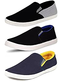 Maddy Perfect Combo Pack of 3 Loafer Shoes For Men's In Various Sizes
