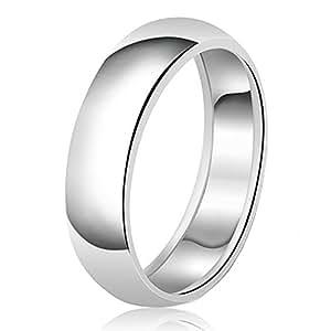 8mm Klassische Sterling Silber Ehering Schlicht Ring, Größe 55 (17.5)