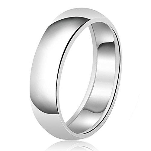 8mm Klassische Sterling Silber Ehering Schlicht Ring, Größe 68 (21.6)