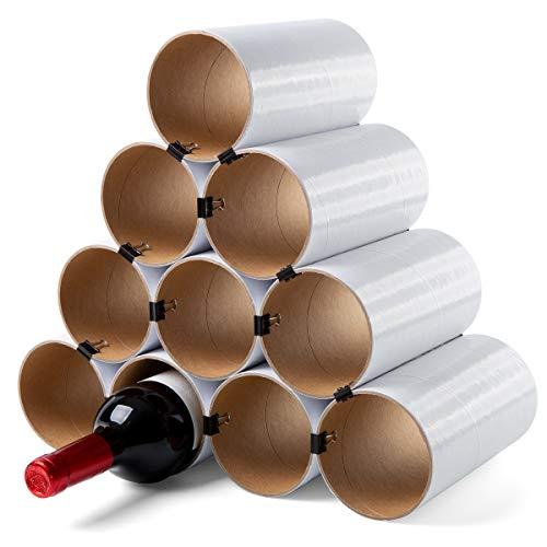 corpus delicti :: Weinheim - Flaschenregal - Weinregal aus Hartpapier - Basisversion für bis zu 19 Flaschen - erweiterbar (10 Hülsen weiß)