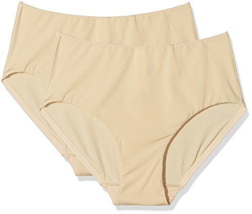Cotonella Damen Miederhose, 2er Pack Beige (Nudo)