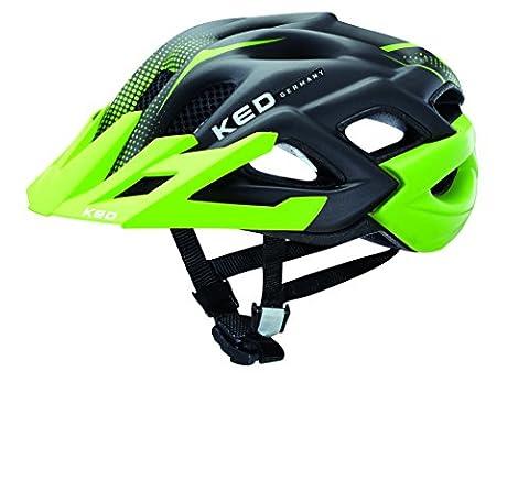 KED Fahrradhelm Status Jr., Green Black Matt, 52-59 cm, 16403295M