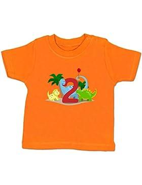 Shirtracer Geburtstag Baby - 2. Geburtstag Dinos - Babyshirt kurzarm