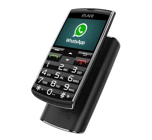 """Preisvergleich Produktbild Elari SafePhone. 3G Handy für die ältere Generation mit großen Tasten / Touchscreen,  GPS / LBS / WiFi-Tracking Funktionen / Absendung der SOS-Nachrichten mithilfe eines kostenlosen Apps,  mit vorausgestellten Apps (WhatsApp,  Browser,  Galerie usw.) und mit einer Möglichkeit,  die Software """"in der Luft"""" zu aktualisieren."""