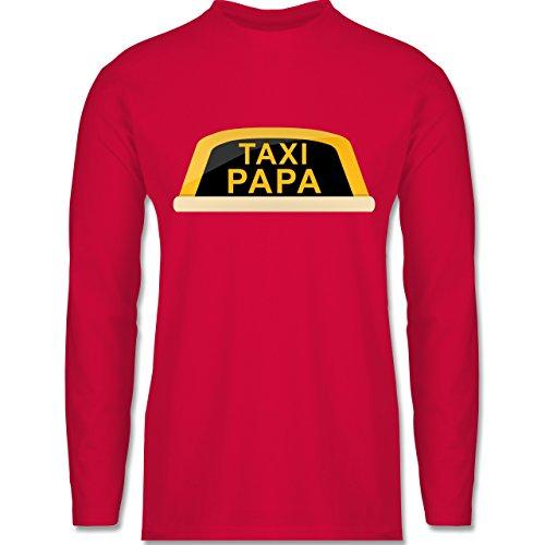 Shirtracer Vatertag - Taxi Papa - Herren Langarmshirt Rot