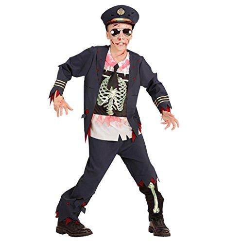 kostüm Zombie Polizist, 158 cm (Polizist Zombie Kostüm)