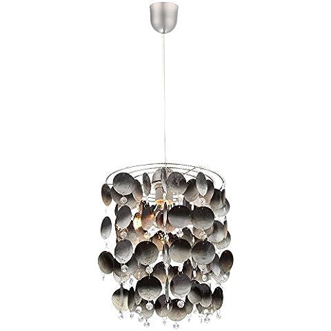 Coperture di ho-lunghezza pendolo lampada salotto illuminazione sospensione cristallo fumo Globo 16102 - Accenti Fumo