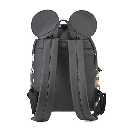 Karactermania Mickey Mouse True-mochila Fashion Zaino Casual, 31 cm, 13 liters, Nero (Negro)